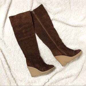 Kelsi Dagger Etna Brown Leather Knee High Boots